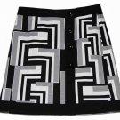 Ann Taylor Skirt Black Gray White Geometric Pattern Women's Size 6
