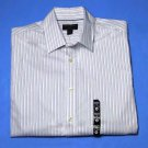 Banana Republic Non-Iron Dress Shirt Striped Classic Fit Size 14.5 X 34