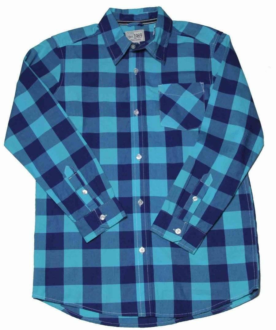 Boys Children's Place Shirt Green Blue Size XL or 14