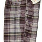 Carhartt Biloxi Shorts Plaid Tan Brown Gray Women's Size 4