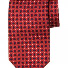 Brooks Brothers Silk Tie Red Black White Geometric Men's