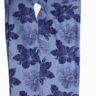 Brooks Brothers Floral Cotton Shorts Blue Flat Front Size 36