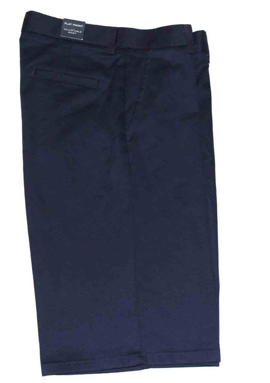 Boy's Nautica Shorts Navy Blue Flat Front Long Size 18