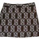 Vineyard Vines Skirt Brown Cream Knotted Ropes Pattern Women's Size 2