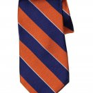 Tommy Hilfiger Repp Stripe Silk Tie Navy Orange White Men's