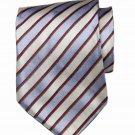 Hugo Boss Tie Blue Red White Striped Silk Italian Men's