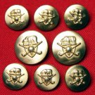 Vintage Waterbury Jack Nicklaus Blazer Buttons Set Golden Bear Gold Brass Alloy Men's