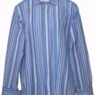 Mens Thomas Pink Dress Shirt French Cuffs USHER Monogram Size 16.5 X 36.5