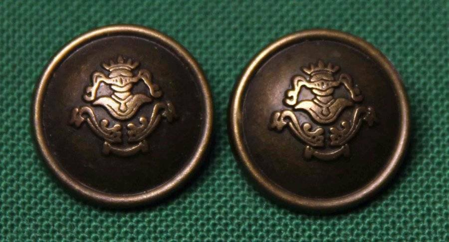 Two Mens Vintage Caledonia Blazer Buttons Dark Brown Gold