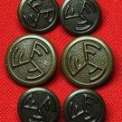Mens Vintage Farah Blazer Buttons Set Antique Gold 1970s