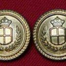 Two Mens Waterbury Enrico Fratelli Blazer Buttons Gold Brass