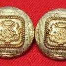 Two Mens Vintage J.G. Hook Blazer Buttons Set Gold