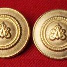 Two Mens Strasbourg Vintage Blazer Buttons Gold Brass
