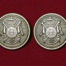 Two Mens Hebrides Blazer Buttons Gold Brass