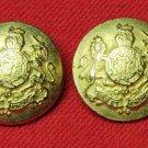 Two Mens Vintage Soujorner Blazer Buttons Gold Brass Shank Lion Unicorn Vintage 1970s