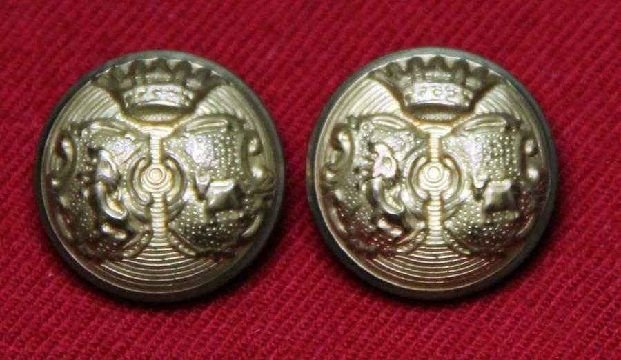 Two Mens Newton Mearns Blazer Jacket Buttons Gold Brass Shank