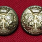 Two Mens Newton Mearns Blazer Jacket Buttons Gold Brass