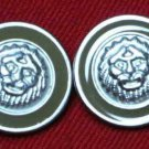 Two Mens Danbury Blazer Buttons Lions Head Metal