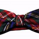 Plaid Tartan Bow Tie Red Blue Green Cedar Wood State Men's