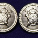 Two Mens Wexford Blazer Buttons Silver Crown Shield