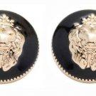 Two New Lion Head Blazer Buttons Jacket Sport Coat Gold Black Metal Shank