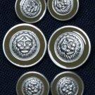 Avignon Blazer Buttons Set Lions Head Metal Shank Men's