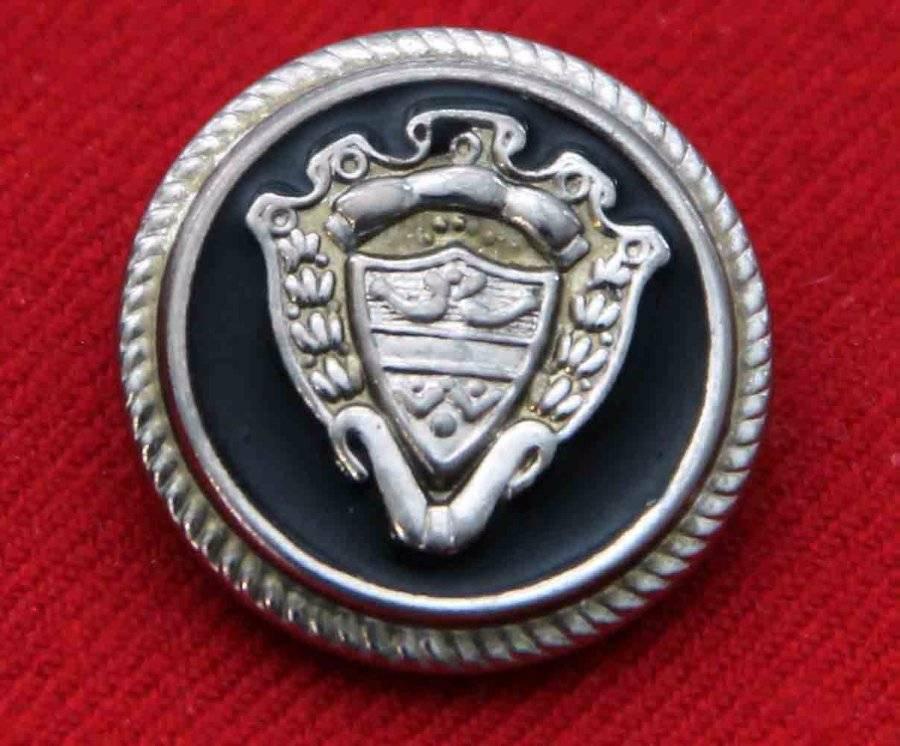 One Mens Vintage Blazer Button Silver Black Gold Shank 1970s