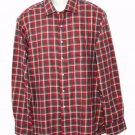 Sid Mashburn Flannel Shirt Checkered Red Gray Men's Size 2XL