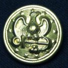 One Men's USA Military Button Gold Brass Eagle