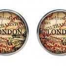 London England Old World Map Cufflinks Men's