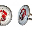 Gascoigne Man Heart Cufflinks Repro Vintage Valentine Men's