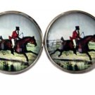 Gascoigne Cufflinks Fox Hunter Equestrian Zinc Metal Alloy Men's