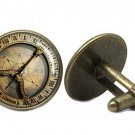 Old World Nautical Style Cufflinks London Sailing Bronze Gold Black Men's