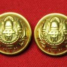 Two Mens Monticello Blazer Buttons Gold Brass