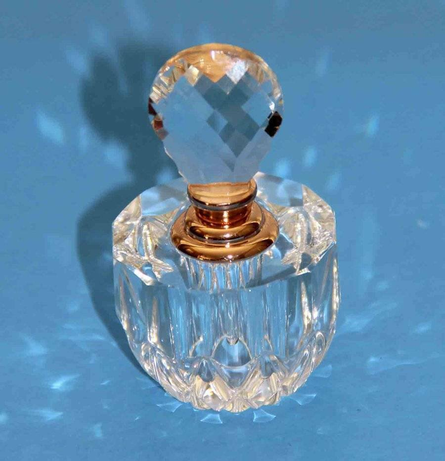 Oleg Cassini Crystal Perfume Bottle Signed