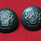 Two Derbyshire Dominion Blazer Jacket Buttons Antique Bronze Men's