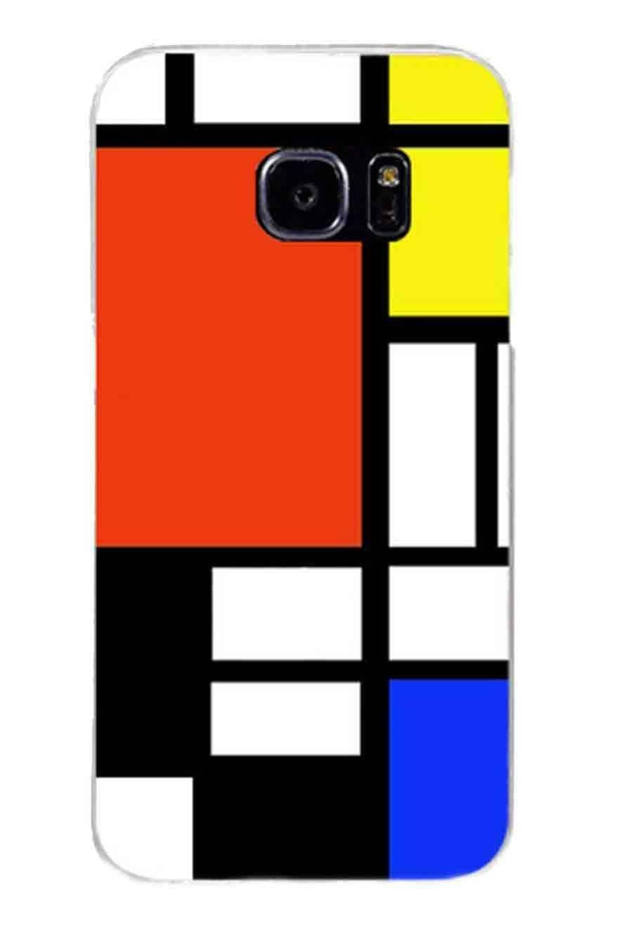 Piet Mondrian Soft TPU Silicone Cover Case for Samsung Galaxy S9
