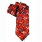 Hugo Boss Italian Silk Tie Red Yellow Green Floral Men's
