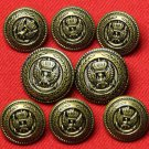 Jos A Bank Blazer Buttons Set Antique Gold Brown Eagle Anchor Crown Metal Men's