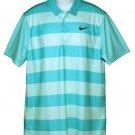 Nike Golf Shirt Green Striped Dri-Fit Men's Size Large
