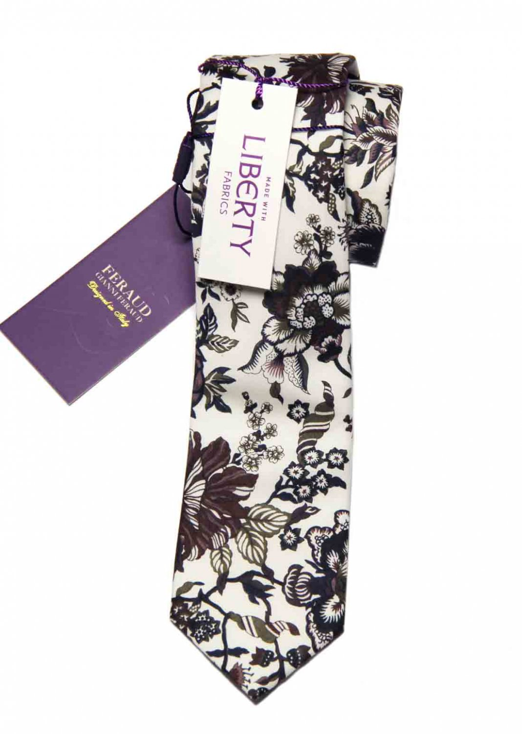 Feraud Liberty of London Fabric Tie Cotton Floral Narrow Men's