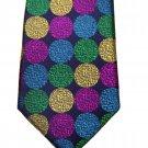 Duchamp Silk Tie Multicolor Circles Men's