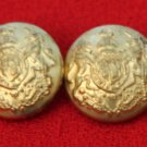 Two Men's Vintage Jos A Bank Blazer Buttons Gold Brass Lion Unicorn Shield