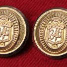 Two Mens Vintage Brooks Brothers by Waterbury Blazer Buttons Gold Brass