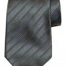 Kenneth Cole New York Silk Tie Gray Striped Men's