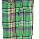 Polo by Ralph Lauren Madras Shorts Multi-color Plaid  Flat Front Men's Size 33