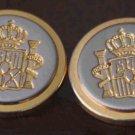 Two Men's Mappelli de Milano Blazer Buttons Gold Silver