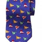 Polo by Ralph Lauren Tie Italian Silk Blue Nautical Flags Handmade Men's