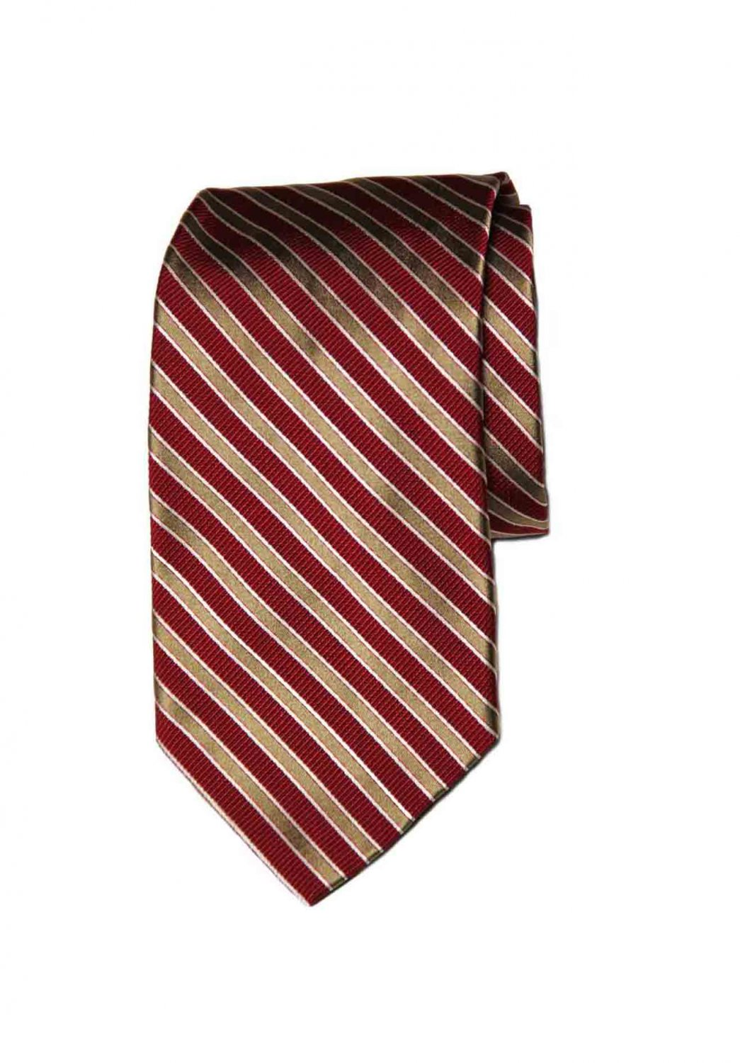 Brooks Brothers Italian Silk Tie Red Gold White Men's Long