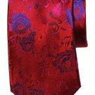 Tresanti Reale Tie Silk Red Blue Floral Men's